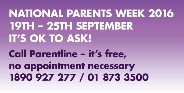 National Parents Week 2016 - 19th – 25th September